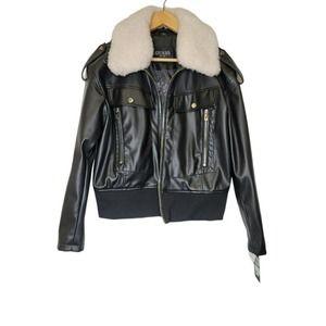 Guess Women's Bomber Black Jacket New